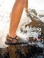 Пляжная обувь Naturehike Silicone Anti-slip Wading Shoes (574790=grey-orange/M(39-40))