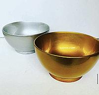 Чашка деревянная,Серебро