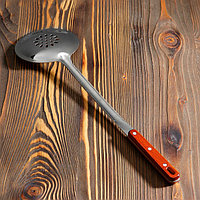 Шумовка для казана узбекская 50см, с деревянной ручкой
