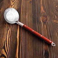 Половник  узбекская 40 см, с деревянной ручкой