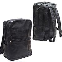 Рюкзак ранец эко-кожа (черного цвета)
