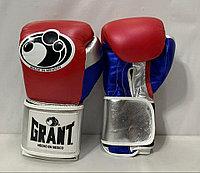 Боксерские перчатки Grant ( натуральная кожа ) цвет синий/красный