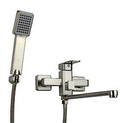 Смеситель для ванны GLLEB7-B123KH однорычажный матовый с длинным гусаком