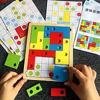 Деревянная игрушка - Тетрис (с 30 карточками)