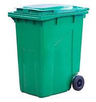 Мусорный контейнер 360л. цв. зелёный