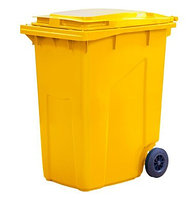 Мусорный контейнер 360л. цв. жёлтый