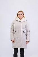 Куртка женская зимняя Evacana бежевая длинная