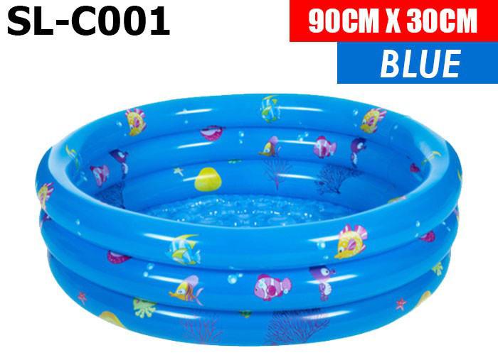 Sl-C001 Бассейн надувной 3х ярусный  ( 3 цвета, в пакете) 90*30см