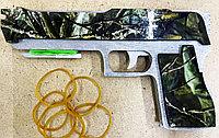 Резинкострел пистолет из дерева (ручная работа)  #made in KZ, фото 1