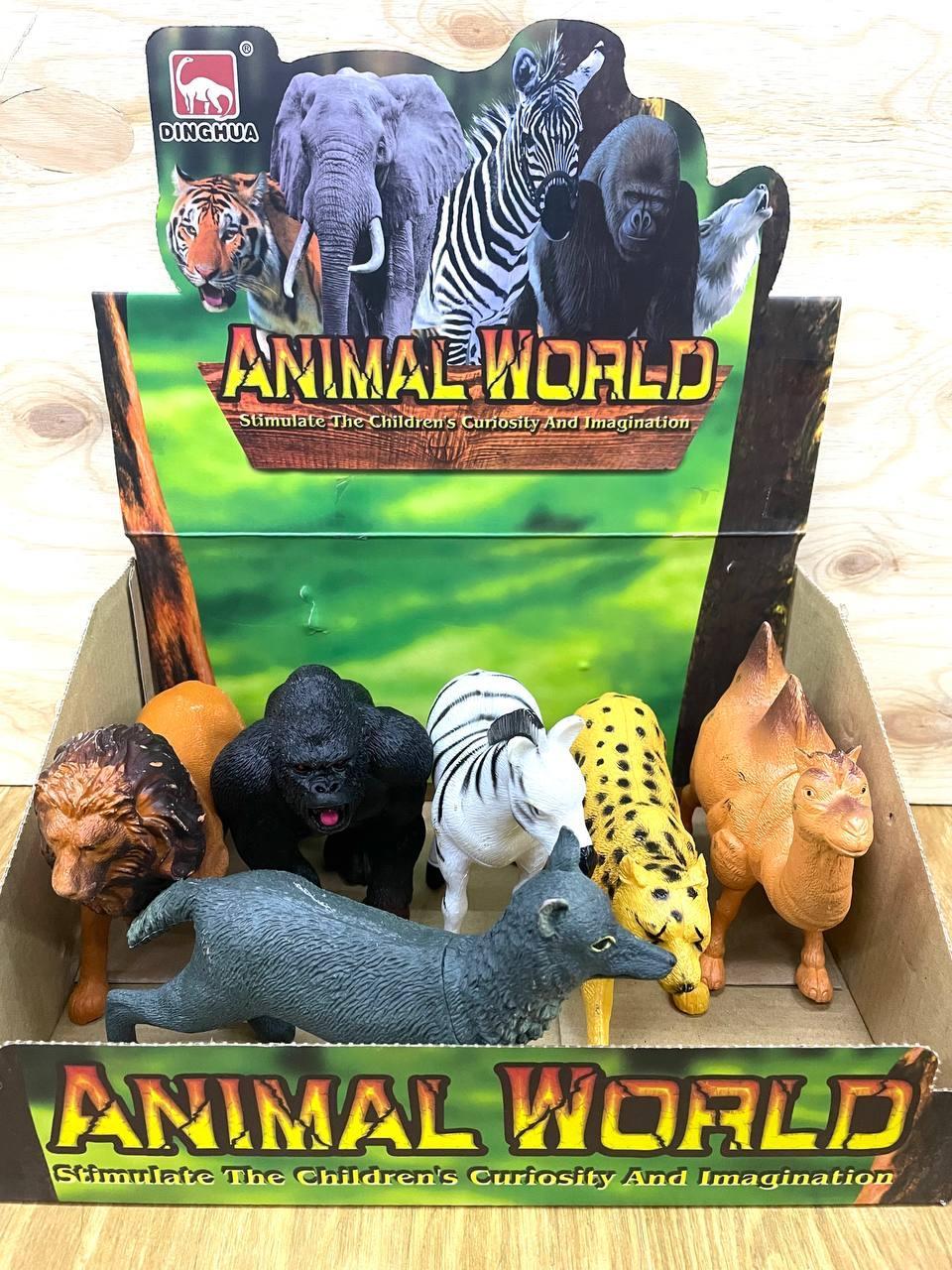605S-1 Дикие животные 6шт Animal world 18*13см