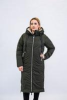 Куртка женская зимняя Evacana темно- зеленая