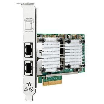Адаптер сетевой 656596-B21 HPE Ethernet 10Gb 2-port 530T Adapter, PCIe 2.0 x8  with Low profile bracket