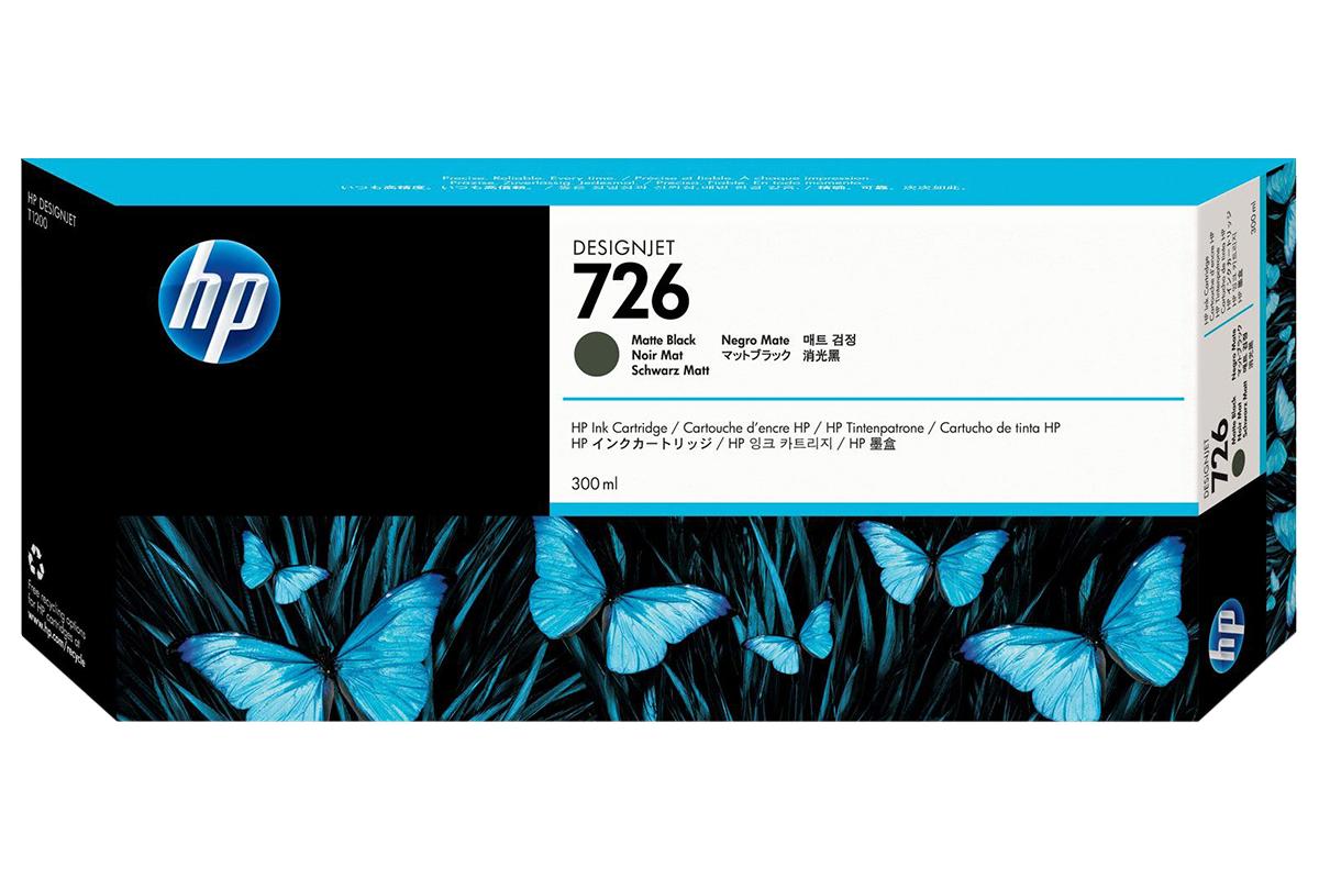 Картридж HP CH575A 726 Matte Black