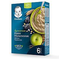 Безмолочная каша Gerber ® «мультизлаковая чернослив-яблоко»