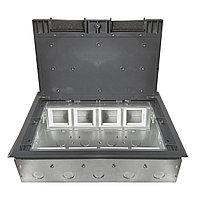 Shelbi Напольный лючок на 16/24 модулей, метал. основание, пластик, серый