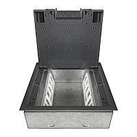 Shelbi Напольный лючок на 12 модулей, метал. основание, пластик, серый