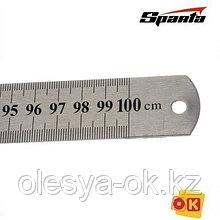 Линейка измерительная 1000 мм, металлическая SPARTA