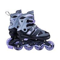 Роликовые коньки раздвижные Ridex Velum purple р-р L (38-41)