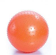Мяч с насосом 75 сантиметров М-175, оранжевый