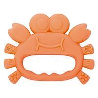 Baboo: Прорезыватель для зубов Краб из силикона 4 м+, оранж