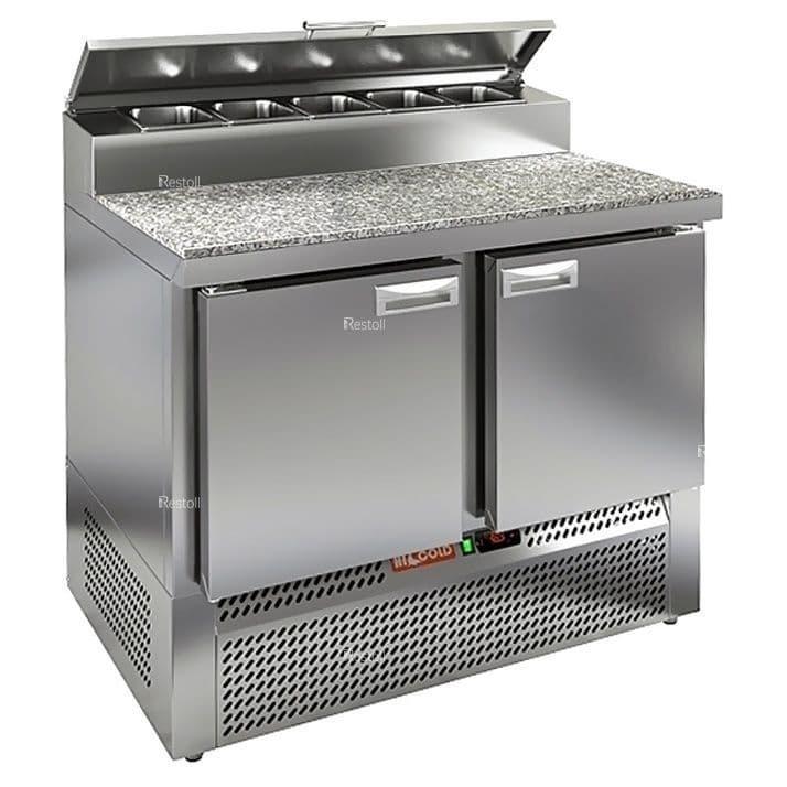 Стол холодильный для пиццы Hicold PZE2-11/GN (1/6H) камень