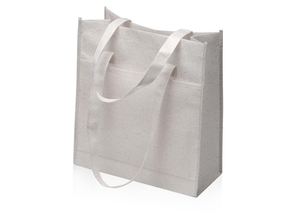 Сумка-шопер Wheat из переработанного пластика 80gsm, 30.5*33*12.5cm, серый