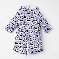 Комбинезон-трансформер, цвет фиолетовый/панда