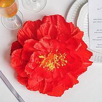Красный цветок для свадебного декора, 30,5 х 23 х 1,8 см