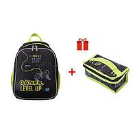 Рюкзак каркасный, Hatber, Ergonomic Mini, 35 х 27 х 13, EVA-материал, с термосумкой, Gamer