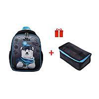 Рюкзак каркасный, Hatber, Ergonomic Mini, 35 х 27 х 13, EVA-материал, с термосумкой, Bear travel