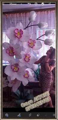 Большие цветы и светильники. Ручная работа.