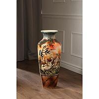 Ваза напольная 'Виктория', лебеди, роспись, 68.5 см, микс, керамика