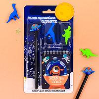 Канцелярский набор 'Мы на волшебной планете', ручка, ластики 2 шт, блокнот