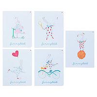 Тетрадь 48 листов клетка 'Шапито', обложка мелованный картон, матовая ламинация, ламинация Soft Touch, МИКС
