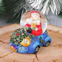 Сувенир - снежный шар водяной 'Дед Мороз на машине'
