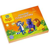 Пластилин 8 цветов 'Мульти-пульти', 'Приключения Енота', стек, картонная упаковка, 160 г