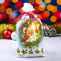 Мешок новогодний 'Дубовый лист', с лентой, габардин, 16х30 см