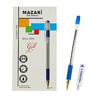 Ручка шариковая Mazari Gold, 0.5 мм, резиновый упор, синяя (комплект из 24 шт.)