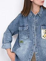 Женская рубашка из денима с принтом «Гуфи»