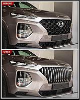 Решетка радиатора Caiman на Hyundai Santa Fe 4 поколение