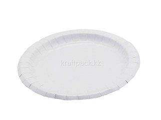 Бумажная тарелка белая 230мм DoEco (100/600)