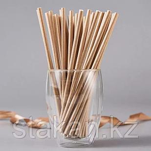 Трубочки бумажные 10х240мм (КРАФТ)