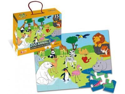 Развивающая игрушка Puzzles Животные зоопарка 35 элементов