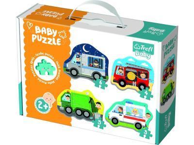 Развивающая игрушка TREFL 4-в-1 серии Baby Classic Транспорт и профессии