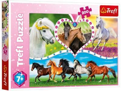 Развивающая игрушка TREFL Красивые лошади 200 деталей