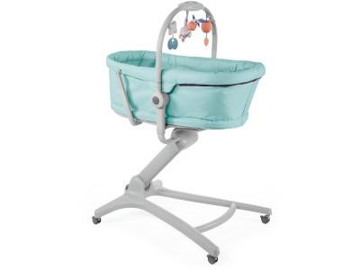 Кроватка Chicco Baby Hug 4-в-1 Aquarelle голубой