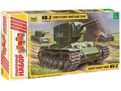 Конструктор Звезда Советский тяжелый танк КВ-2 ПН 3608П