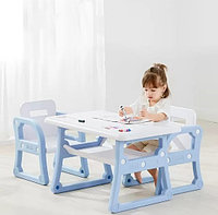 Детский стол и два стульчика Yasmei голубой