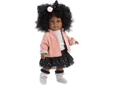 Кукла LLORENS Зури мулатка в розовом жакете и черной кружевной юбке 35 см