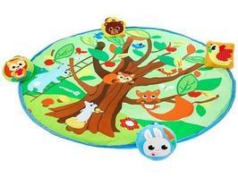 Игровой коврик Крошка Я Кто живет в лесу 80x80 см